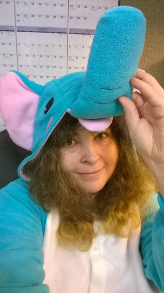 My Elephant Japanese Kigurumi Costume for a Halloween Party at Work Today