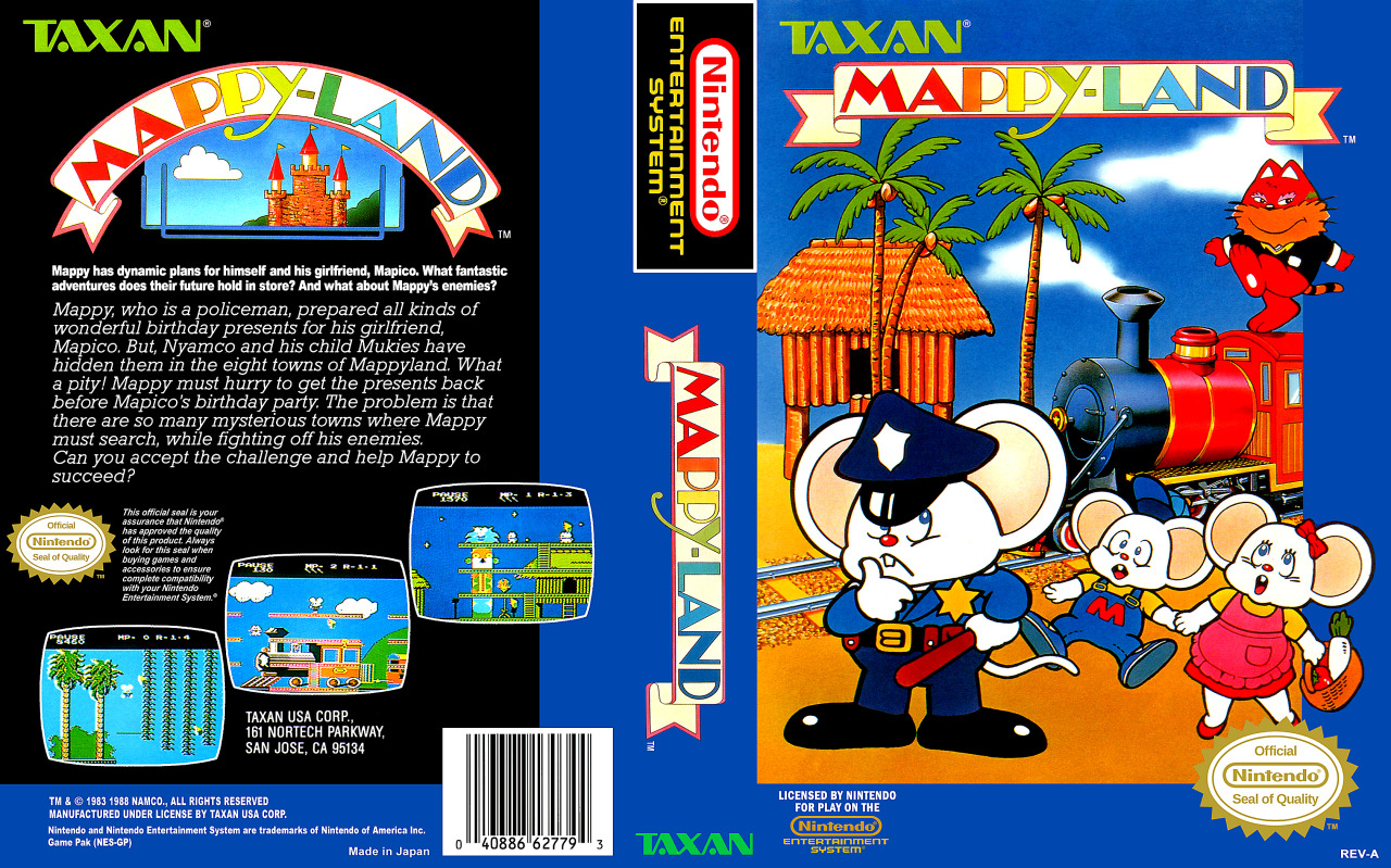 MappyLand – 8bit Nintendo – Retro Game Review – 1986