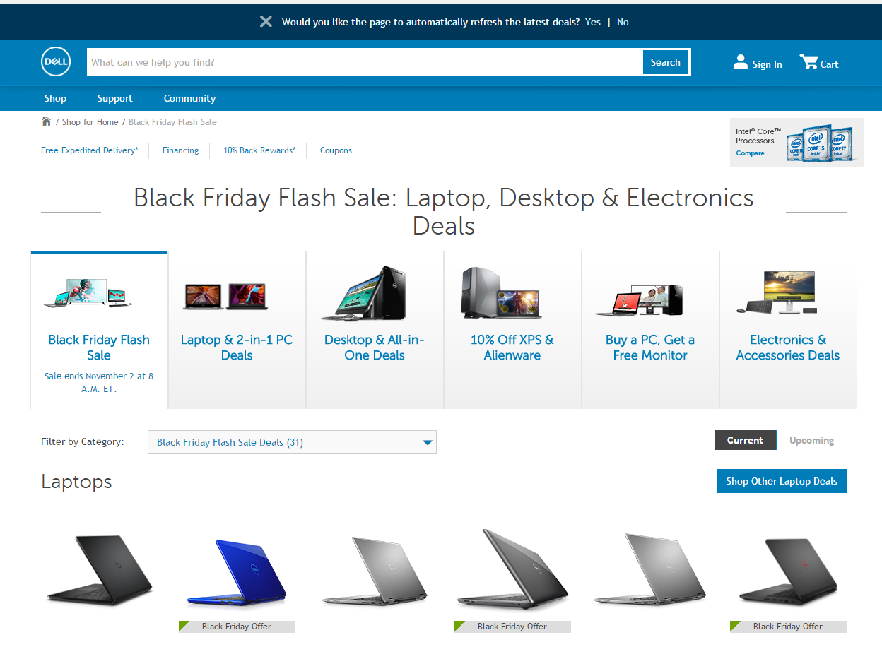 Black Friday 24 Hour Flash Sale Now Live at Dell | Black Friday Computers | Black Friday Laptops | Black Friday 2016