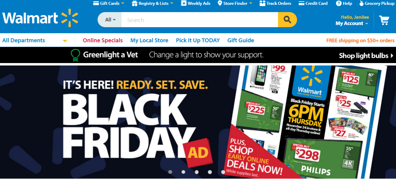 Walmart Blackfriday 2016 Features 4K HDTVs for under $300